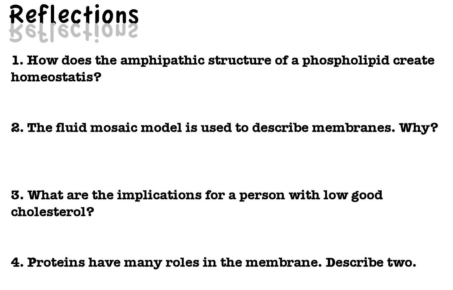 Cell membrane essay question